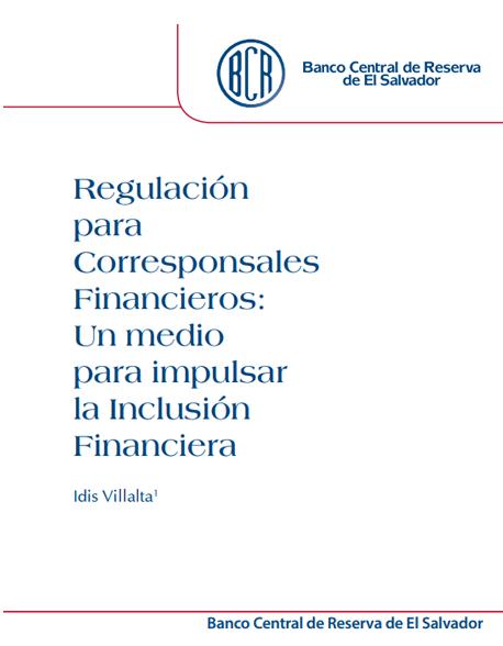 Regulación para Corresponsales Financieros
